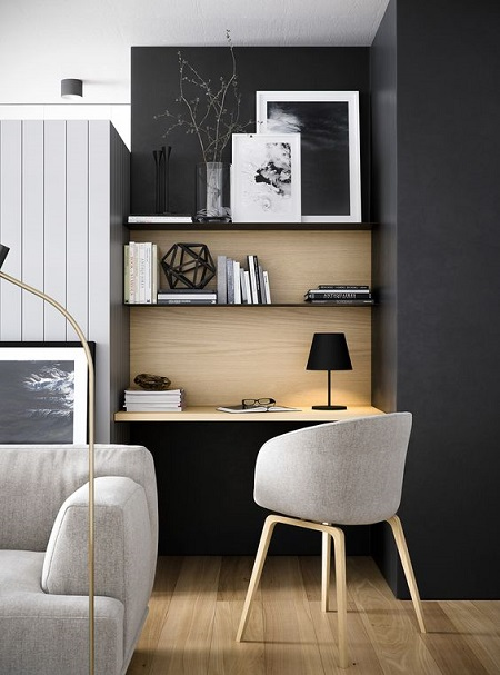 09-a-small-workspace-with-built-in-shelves-in-perfectly-integrated-into-the-living-room