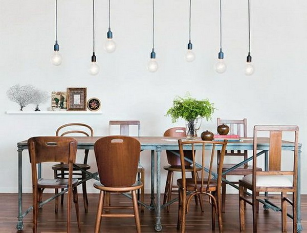 awesome-dining-table-with-different-chairs-mismatched-timber-chairs-