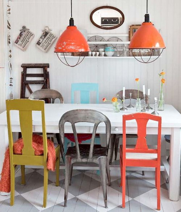 best-dining-table-with-different-chairs-mismatched-