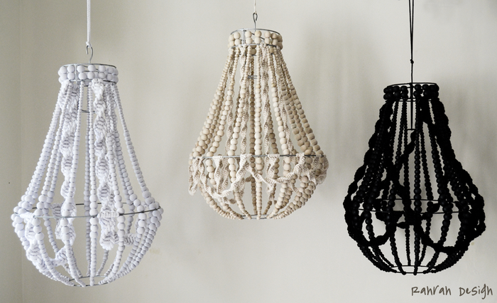 MACRAME+AND+BEADS+CANDELIER