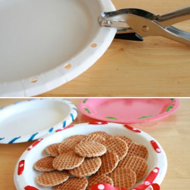 Genius-Craft-Ideas-Decorate-plates-with-ribbon-to-make-them-fancy.-Great-for-bake-sales-and-potlucks.