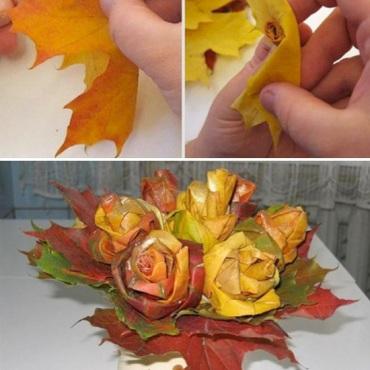 Genius-Craft-Ideas-Maple-Leaf-Roses