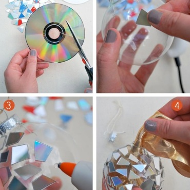 Genius-Craft-Ideas-Sparkle-ornament-made-from-CDs.