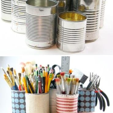 Genius-Craft-Ideas-Tin-Can-Caddy