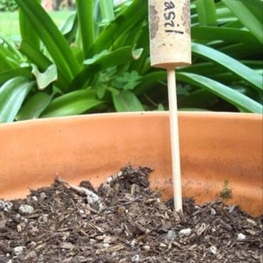 Genius-Craft-Ideas-Wine-cork-garden-markers.
