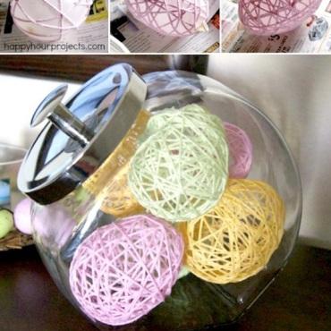 Genius-Craft-Ideas-Yarn-Eggs